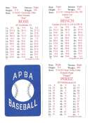 1972 APBA (Reprint) Season - CINCINNATI REDS Team Set