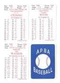 1972 APBA (Reprint) Season - HOUSTON ASTROS Team set