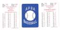 1972 APBA (Reprint) Season - MILWAUKEE BREWERS Team Set