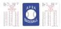 1972 APBA (Reprint) Season - NEW YORK YANKEES Team Set