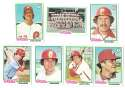 1978 Topps VG+EX Condition B - PHILADELPHIA PHILLIES Team Set
