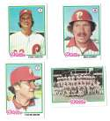 1978 Topps VG+EX Condition A - PHILADELPHIA PHILLIES Team Set