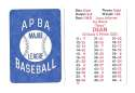 1938 APBA Season - CHICAGO CUBS Team Set