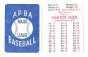 1938 APBA Season - CINCINNATI REDS Team Set