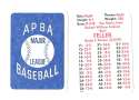 1938 APBA Season - CLEVELAND INDIANS Team Set