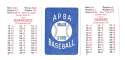 1938 APBA Season - NEW YORK YANKEES Team Set