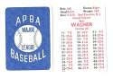 1938 APBA Season - PHILADELPHIA ATHLETICS Team Set