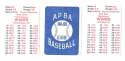 1938 APBA Season - PITTSBURGH PIRATES Team Set