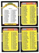 1987 Leaf - Checklist 4 card subset