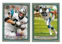 1999 Topps Collections Football Team Set - CAROLINA PANTHERS
