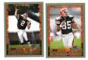 1999 Topps Collections Football Team Set - CLEVELAND BROWNS