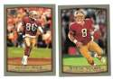 1999 Topps Collections Football Team Set - SAN FRANCISCO 49ERS