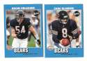 2001 Upper Deck Vintage Football Team Set - CHICAGO BEARS