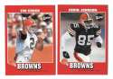 2001 Upper Deck Vintage Football Team Set - CLEVELAND BROWNS