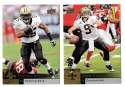 2009 Upper Deck Football (1-325) Team Set - NEW ORLEANS SAINTS