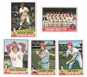 1976 Topps EX condition CHICAGO WHITE SOX Team Set (Checklist Marked)