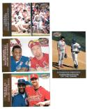 1998 Pacific Home Run History Sammy Sosa and Mark McGwire Combo 4 cards