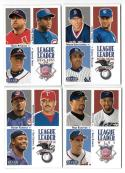 2000 Fleer Tradition - League Leaders 10 card subset