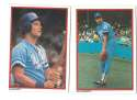 1984 Topps Glossy Send-Ins - KANSAS CITY ROYALS Team Set