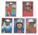 1984 Topps Glossy Send-Ins - MONTREAL EXPOS Team Set