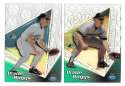 1999 Topps TEK A and B - TAMPA BAY DEVIL RAYS Wade Boggs A-23 B-11