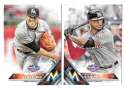 2016 Topps Opening Day - MIAMI MARLINS Team Set
