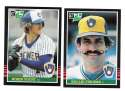 1985 LEAF - MILWAUKEE BREWERS Team Set