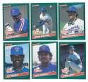 1986 Donruss Rookies - TEXAS RANGERS Team Set