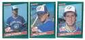1986 Donruss Rookies - TORONTO BLUE JAYS Team Set