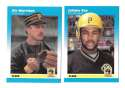 1987 Fleer Mini PITTSBURGH PIRATES Team Set