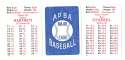 1924 APBA Season - CHICAGO CUBS Team Set