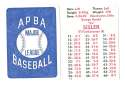 1924 APBA Season - ST LOUIS BROWNS (Orioles) Team Set