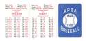 1924 APBA Season - NEW YORK GIANTS Team Set