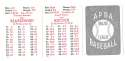 1950 APBA (Reprint) Season - CINCINNATI REDS Team Set