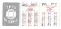 1950 APBA (Reprint) Season - CLEVELAND INDIANS Team Set