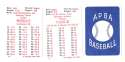 1926 APBA Season - BROOKLYN DODGERS Team Set
