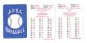 1926 APBA Season - PHILADELPHIA PHILLIES Team Set