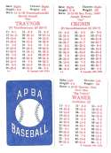 1926 APBA Season - PITTSBURGH PIRATES Team Set