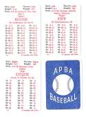 1926 APBA Season - CINCINNATI REDS Team Set