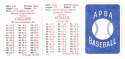 1926 APBA Season - CHICAGO WHITE SOX Team Set