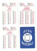 1932 APBA Season (Pencil yr and tm on back of some) - NEW YORK GIANTS Team Set