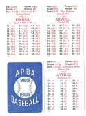 1932 APBA Season (Pencil yr and tm on back of some) - CLEVELAND INDIANS Team Set