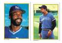 1983 Topps Glossy Send-Ins - KANSAS CITY ROYALS Team Set