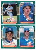 1987 Donruss Rookies - CHICAGO CUBS Team Set