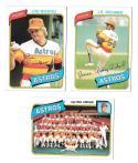 1980 Topps (VG+ Condition) HOUSTON ASTROS Team set