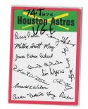 1974 Topps Team Checklist Card VG+ Condition - HOUSTON ASTROS