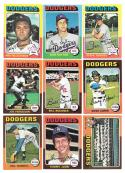 1975 Topps EX+ LOS ANGELES DODGERS Team Set checklist marked