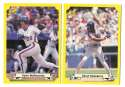 1987 Classic Yellow Update w/Green Back NEW YORK METS Team Set