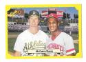 1987 Classic Yellow Update w/Green Back Mark McGwire A's and Eric Davis Reds