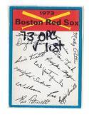 1973 O-Pee-Chee Blue Team Checklist Card BOSTON RED SOX